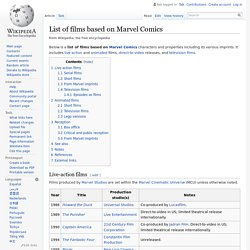 List of films based on Marvel Comics