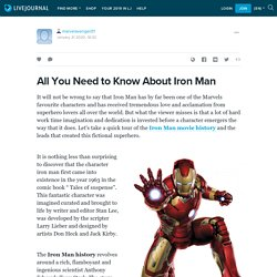 All You Need to Know About Iron Man: marvelavenger01 — LiveJournal