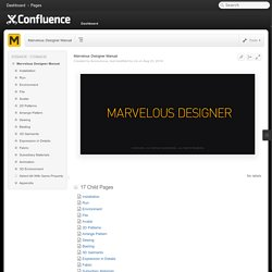 Marvelous Designer Manual - Marvelous Designer Manual - Confluence