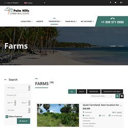 Farm land with a marvelous view for sale in Dominican Republic - palmhills.com.do
