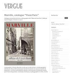 """Marville, catalogue """"Vieux Paris"""""""