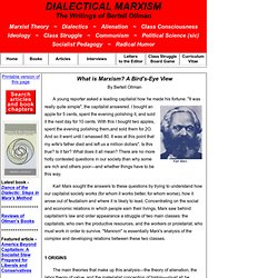 What is Marxism? A Bird's-Eye View < DIALECTICAL MARXISM: The Writings of Bertell Ollman