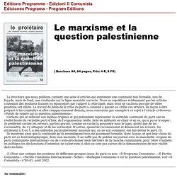 Le marxisme et la question palestinienne