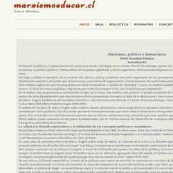 Marxismo, política y democracia