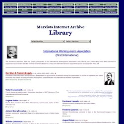 Marxists Internet Archive Library, Complete Index of Writers