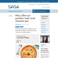 Mary Berry's potato, leek and cheese pie
