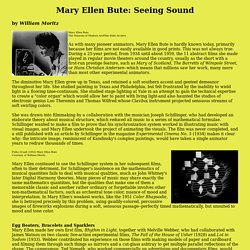 Mary Ellen Bute: Seeing Sound