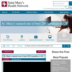 St. Mary's named one of best 250 hospitals in US