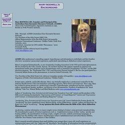 Mary Rodwell's Background