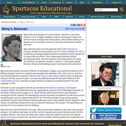 Mary S. Sherman
