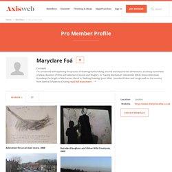 Maryclare Foá, Pro Member in London - Members