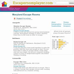 Maryland Escape Rooms