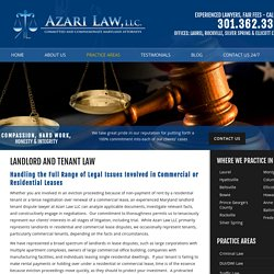 Maryland Landlord and Tenant Lawyers