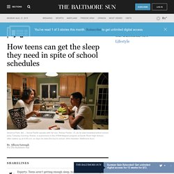 How Maryland teens can get the sleep they need in spite of school schedules