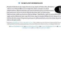 Maryline Desbiolles