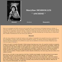 Maryline Desbiolles : Anchise