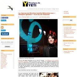 La réponse de Maryline Camille Mélenchon aux « attaques ignobles » d'un élu de l'Essonne