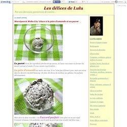 Marzipan & Mohn Eis/ Glace à la pâte d'amande et au pavot - Les délices de Lulu