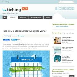 Más de 30 Blogs Educativos para visitar