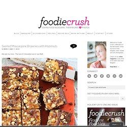 Swirled Mascarpone Brownies with Hazelnuts Recipe