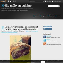 Le marbré mascarpone chocolat et vanille ( avec ou sans thermomix ) - Mélie m...