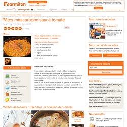 Pâtes mascarpone sauce tomate : Recette de Pâtes mascarpone sauce tomate
