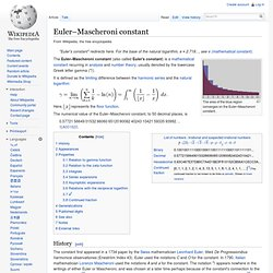 Euler–Mascheroni constant