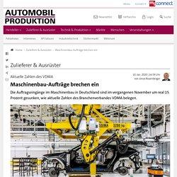 Maschinenbau-Aufträge brechen ein