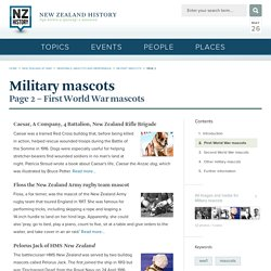 First World War mascots - Military mascots