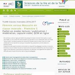 Féminin versus Masculin en classe inversée - Première S - Sciences de la Vie et de la Terre