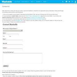 Write For Mashable