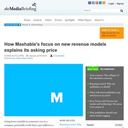 How Mashable's focus on new revenue models explains its asking price