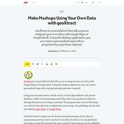 Make Mashups Using Your Own Data with geoXtract - ReadWriteWeb