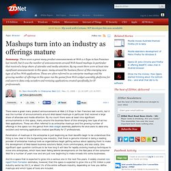 Mashups turn into an industry as offerings mature | Enterprise W