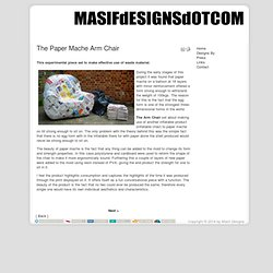 Masif Designs - The Paper Mache Arm Chair