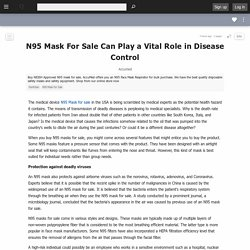 N95 Mask For Sale Can Play a Vital Role in Disease Control