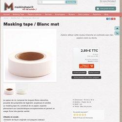 Masking tape / Blanc mat - 2,89 € - Scrapbooking