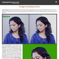 Image masking – Clipping Outsource