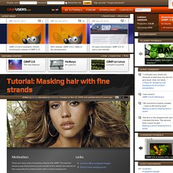 Masking hair with fine strands