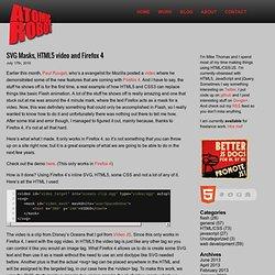 SVG Masks, HTML5 video and Firefox 4 « Atomic Robot Design