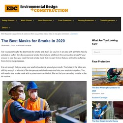 12 Best Masks for Smoke Reviewed and Rated in 2020