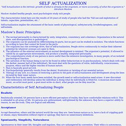 Maslow Self Actualization - unlearn. - StumbleUpon