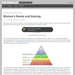 Maslow's Needs and Gaming