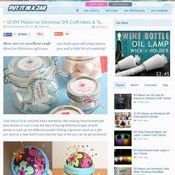 10 DIY Mason Jar Christmas Gift Craft Ideas & Tutorials
