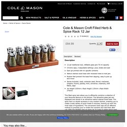 Cole & Mason Croft Filled Herb & Spice Rack 12 Jar: Cole and Mason - Release The Flavour