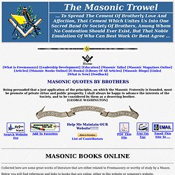 Masonic Books Online