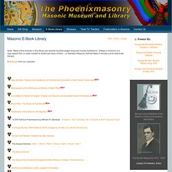 Masonic E-Book Library