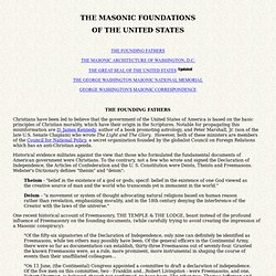 Masonic Foundations of the U.S.