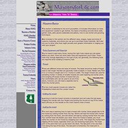 Masonry Basics - The Tools You Need and How to Use Them.