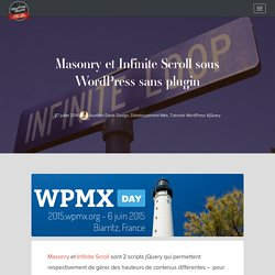 Masonry et Infinite Scroll sous WordPress sans plugin